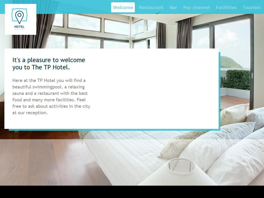 Hotel Info Page Template Image