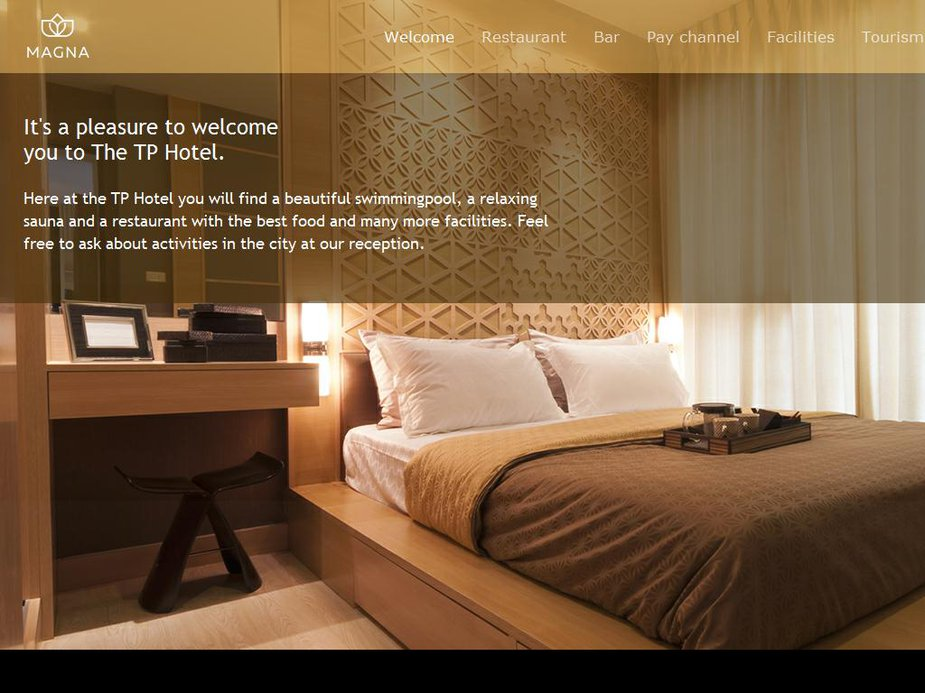 Hotel Room Info Page Template Image