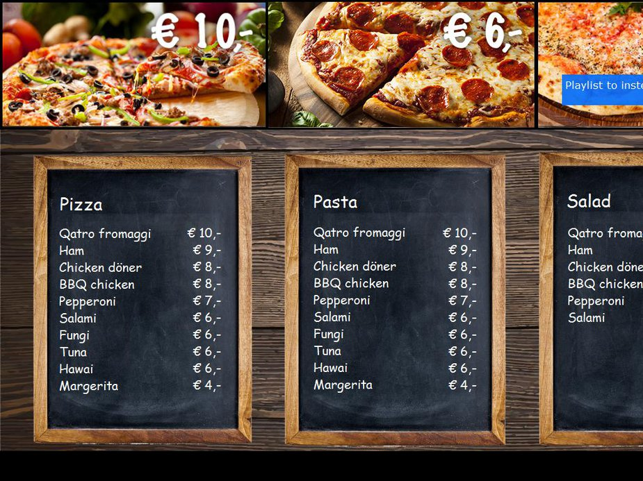 Pizza Bar Template Image