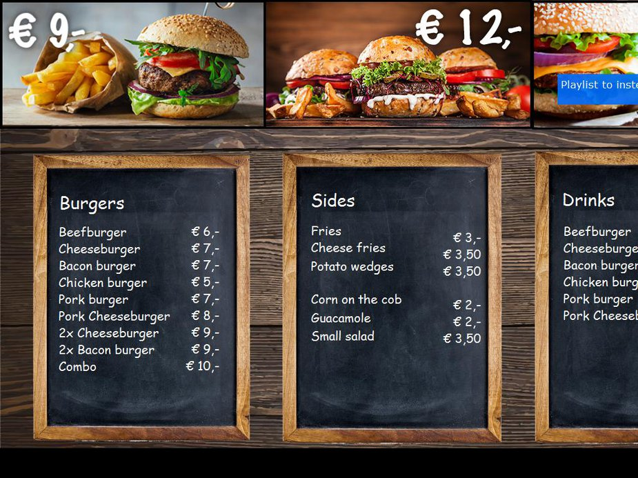 Burger Restaurant Template Image
